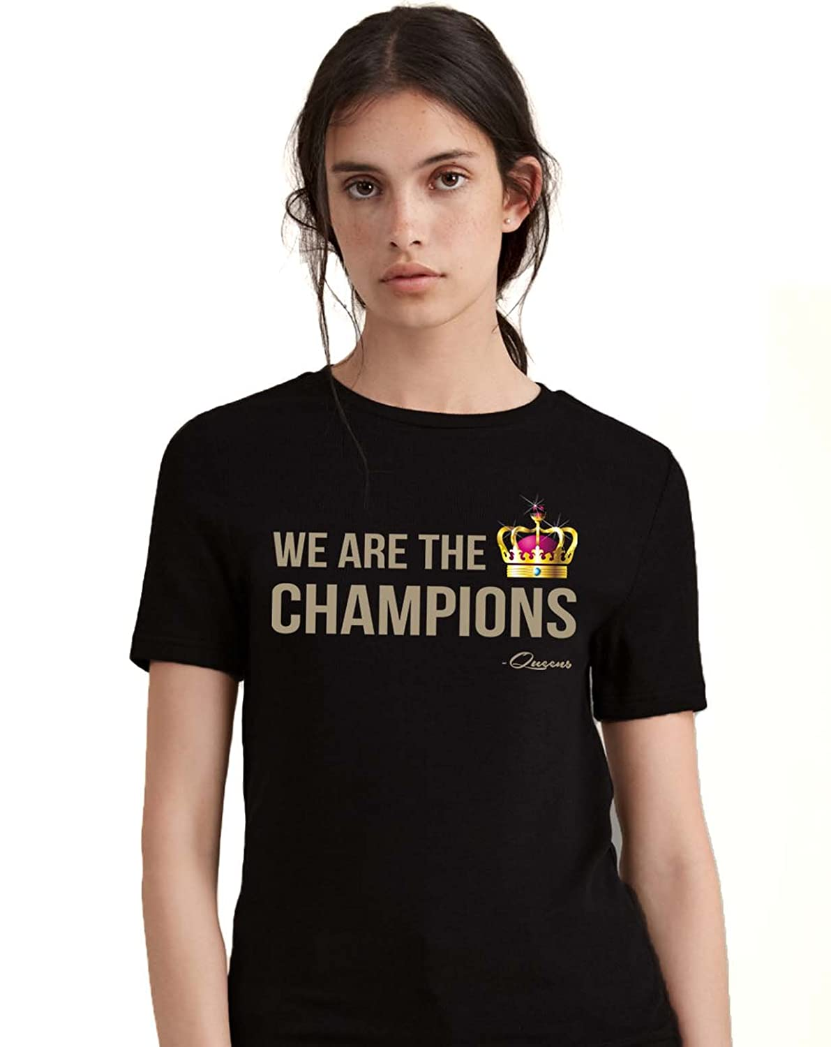 eacda35b2 We are The Champions Queen Band Tshirt - Queen Band Merchandise: Amazon.in:  Clothing & Accessories
