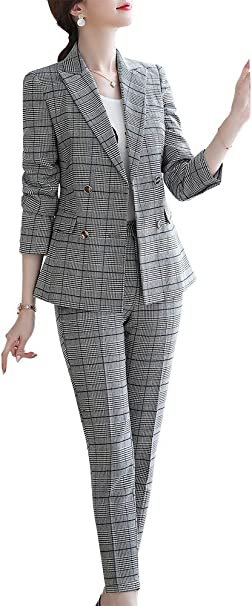 Amazon.com: Conjunto de traje de mujer de dos piezas para ...