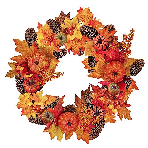 Fall Front Door Autumn Wreath 20