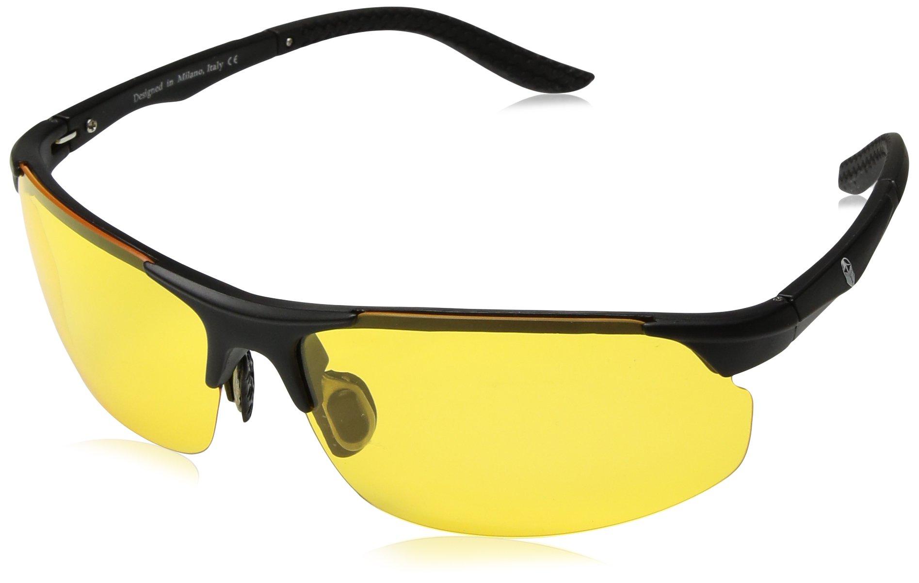 Sunglasses for Men and Women – Feirdio Retro Designer Openwork Metal Frame Men Sunglasses 575 (D07)