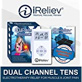 iReliev ET-1313 TENS Pain Relief & Massage System, Health Canada & FDA approved Pain Relief therapy Device - Portable Muscle Stimulator for Electrotherapy Pain Management | Pain Relief on the Shoulder, Waist, Knee, Back, Arm, Leg & More
