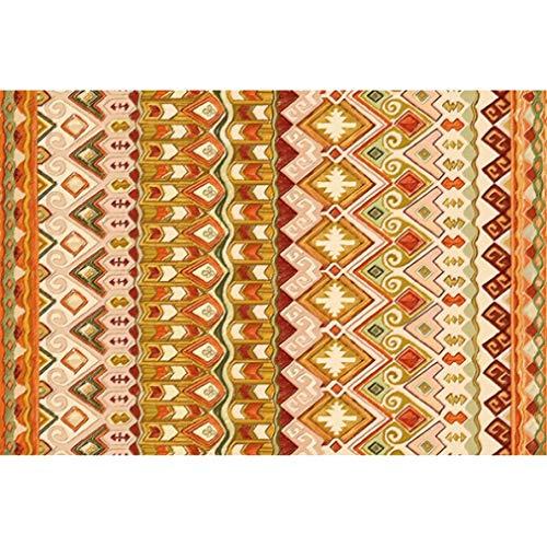 (American Floral European Indian Ethnic National Style Door Mat Bathroom Parlor Living Room Bedroom Decorative Carpet Area Rug)