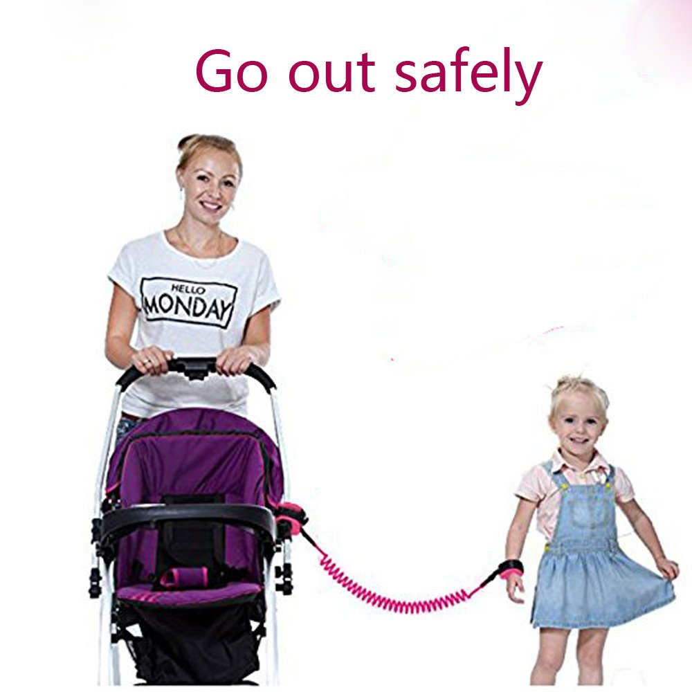 Anti Lost Wrist Link + Toddlers Leash 2 packs Child Walking Safety Harness Kids Wristband Assistant Strap Belt (Butterly pink) by Standard (Image #10)