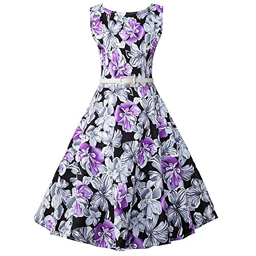 50s belted dress - 8