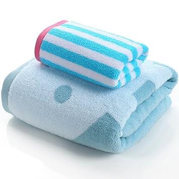 LI LU SHOP Toallas y Toallas de baño Toallas de algodón Toallas Suaves Toallas de Mano Toallas absorbentes de Agua Toalla de natación (Color : Verde): ...