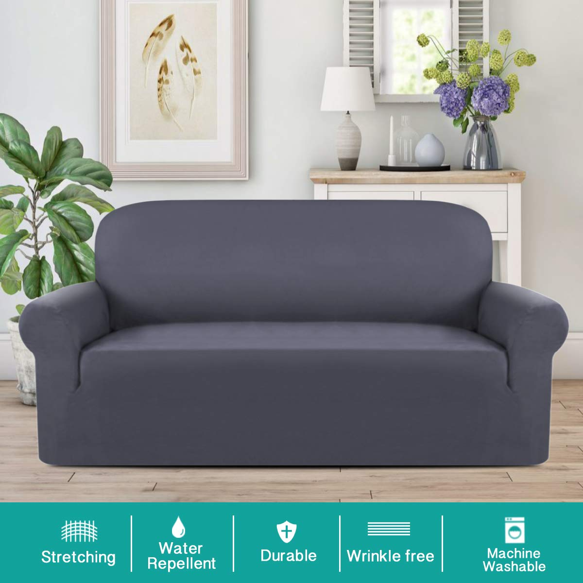 Astounding Turquoize Suede Sofa Cover Grey Sofa Slipcover Water Repellent Sofa Lounge Covers For 3 Seat Sofa Cover Suede Slipcover Loveseat Cover Stretch Velvet Pabps2019 Chair Design Images Pabps2019Com