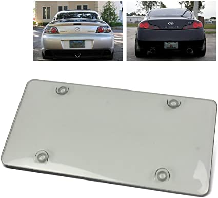 GOLD Frame for ACURA UNBREAKABLE Flat Clear License Plate Shield