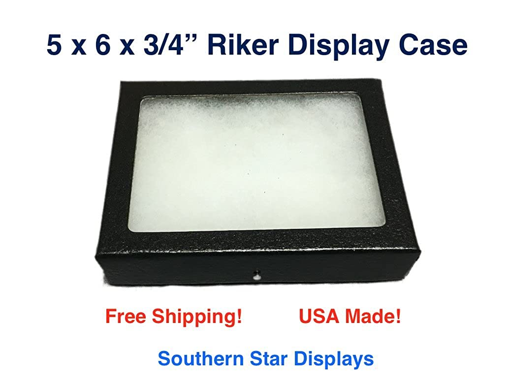 5 x 6 x 3//4 Riker Display Case Box for Collectibles Arrowheads Jewelry /& More