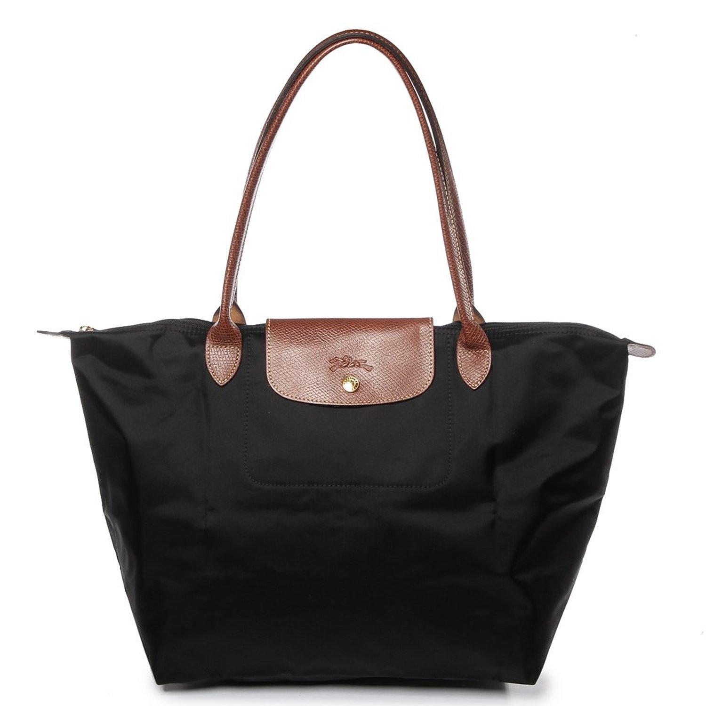 18d3e87d84 Amazon.com   Longchamp Large Handbag - Le Pliage Neo - Black   Beauty
