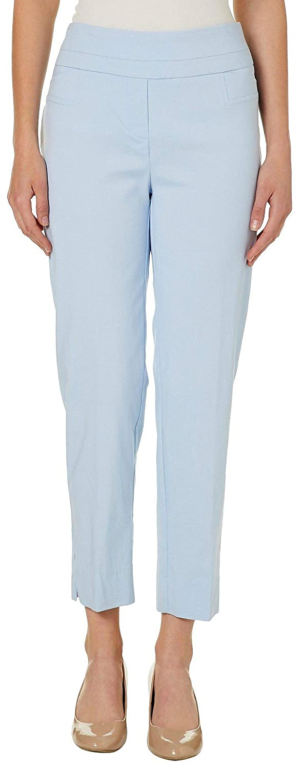 acb55e38f42 Zac   Rachel Womens Solid Pull On Slim Fit Pants at Amazon Women s Clothing  store