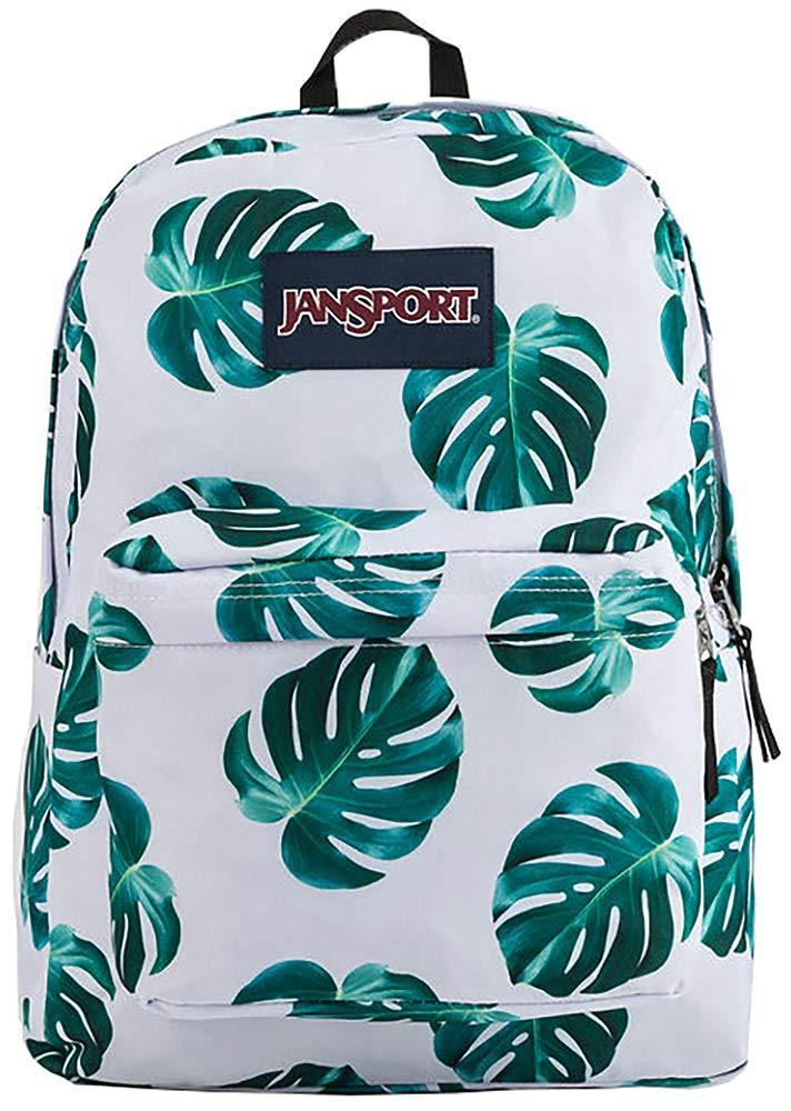 JanSport SuperBreak Backpack, White Monstera Leaves by JanSport (Image #1)