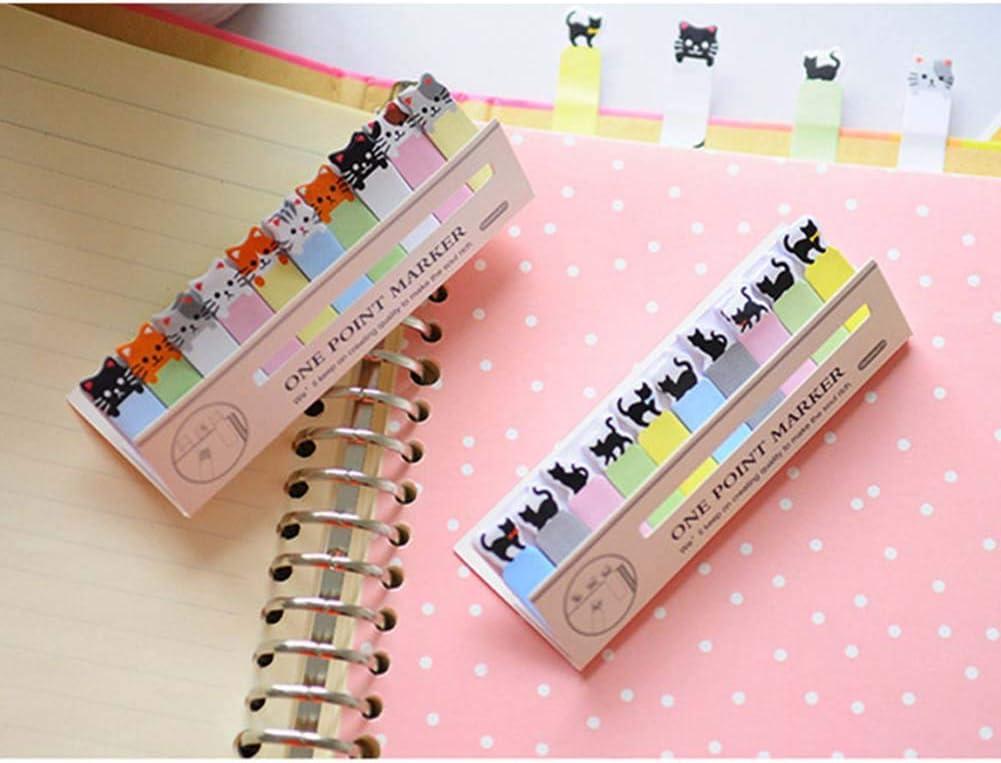 Cute Cartoon Cat DIY Memo Sticky Notes Memo Pad Black cat for ...