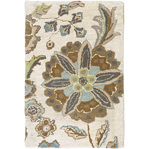 Surya Athena Hand Tufted Transitional Rug, 2-Feet by 3-Feet, Tea Leaves