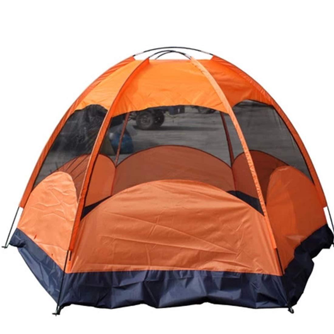Jakiload 8 Personen und 5 Personen Outdoor-Zelt für Wilde Camping (Farbe : Orange)