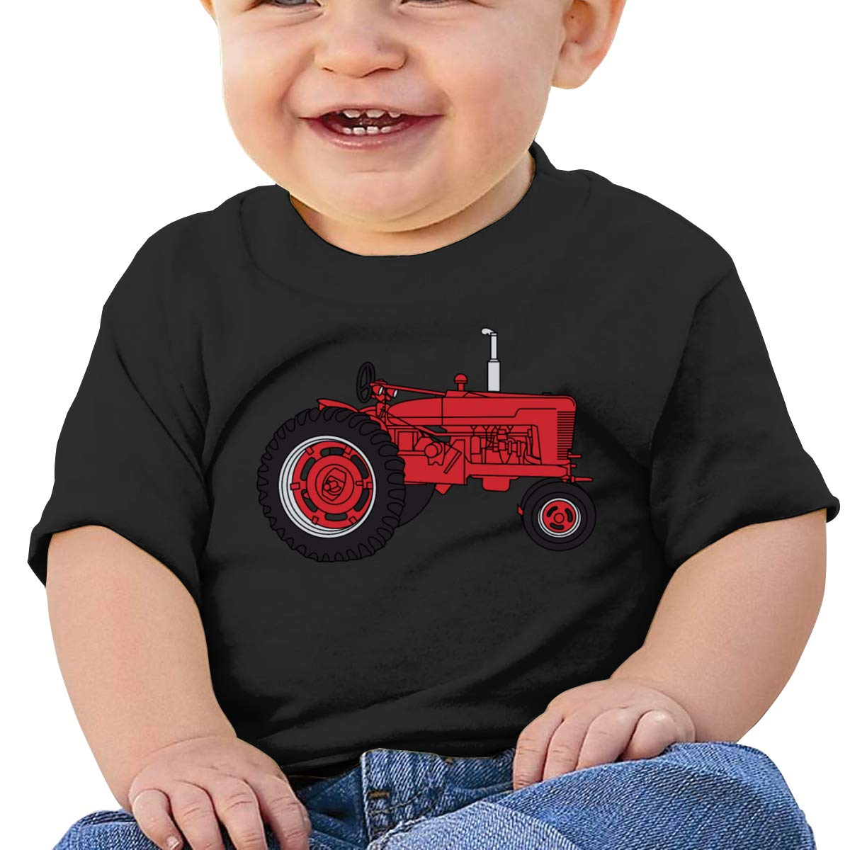Red Tractor Short Sleeves T Shirts Baby Boy