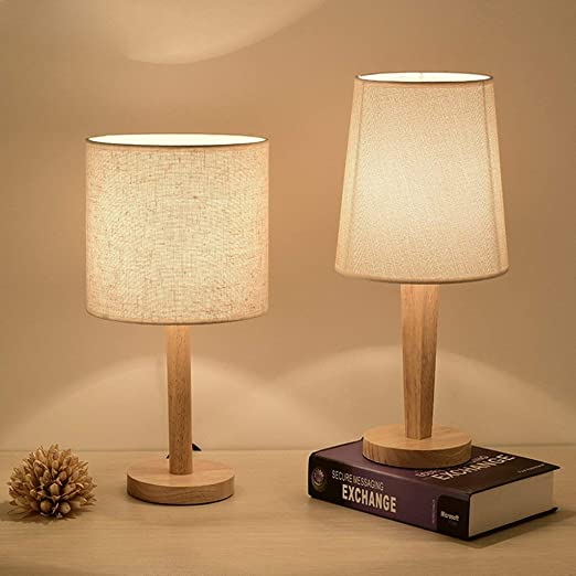 Amazon.com: ChuanHan Ceiling Fan Light Chandelier Lightings Table Lamp Modern Contemporary Simple Cloth Craft Table Bedroom Bedside Decoration Solid Wood ...