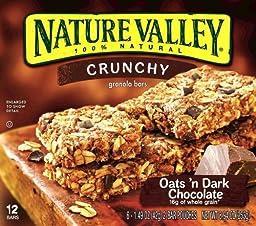 Nature Valley, Crunchy Oats\'n Dark Chocolate Granola Bars, 8.94oz Box (Pack of 4)