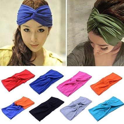 Amazon.com   Women Turban Twist Headband Head Wrap Twisted Knotted ... 8ff3bf950c0
