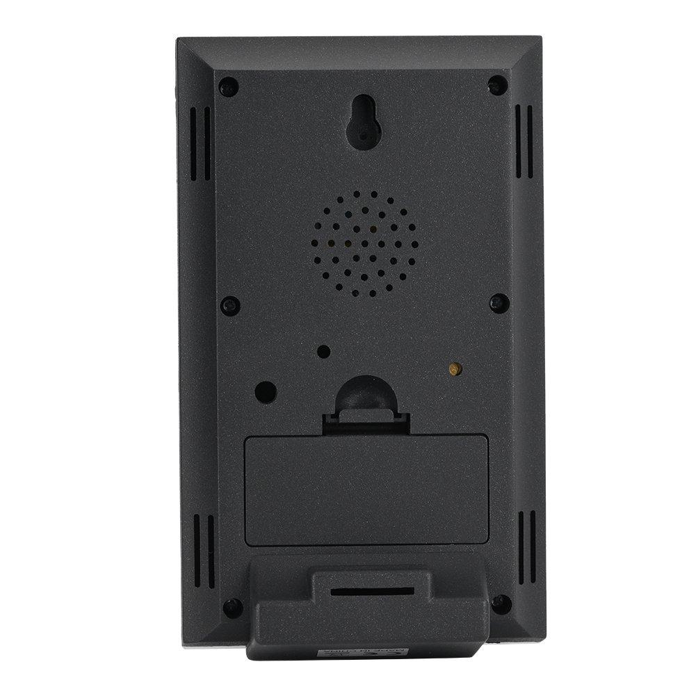 Station m/ét/éo sans fil 433 MHz Temp/érature int/érieure et ext/érieure pour la surveillance de lhumidit/é calendrier num/érique avec /écran LCD