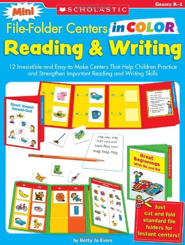 Reading Learning Centers - Mini File-Folder Centers in Color Reading and Writing (K-1): 12 Irresistible and Easy-to-Make Centers That Help Children Practice and Strengthen Important Reading and Writing Skills