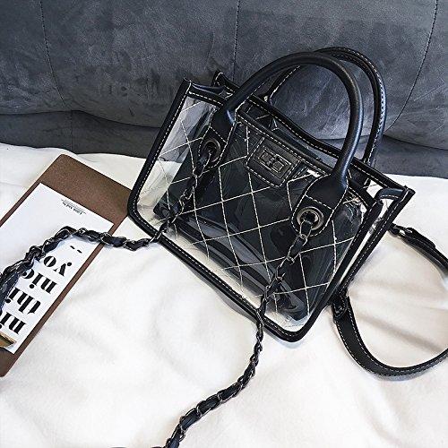 Offres Sac Argyle Black Package Petits De D'Argyle Forfaits Été Chaîne La Gelée Diagonale Forfaitaires Fille KLXEB Transparente Package 0qUwaa