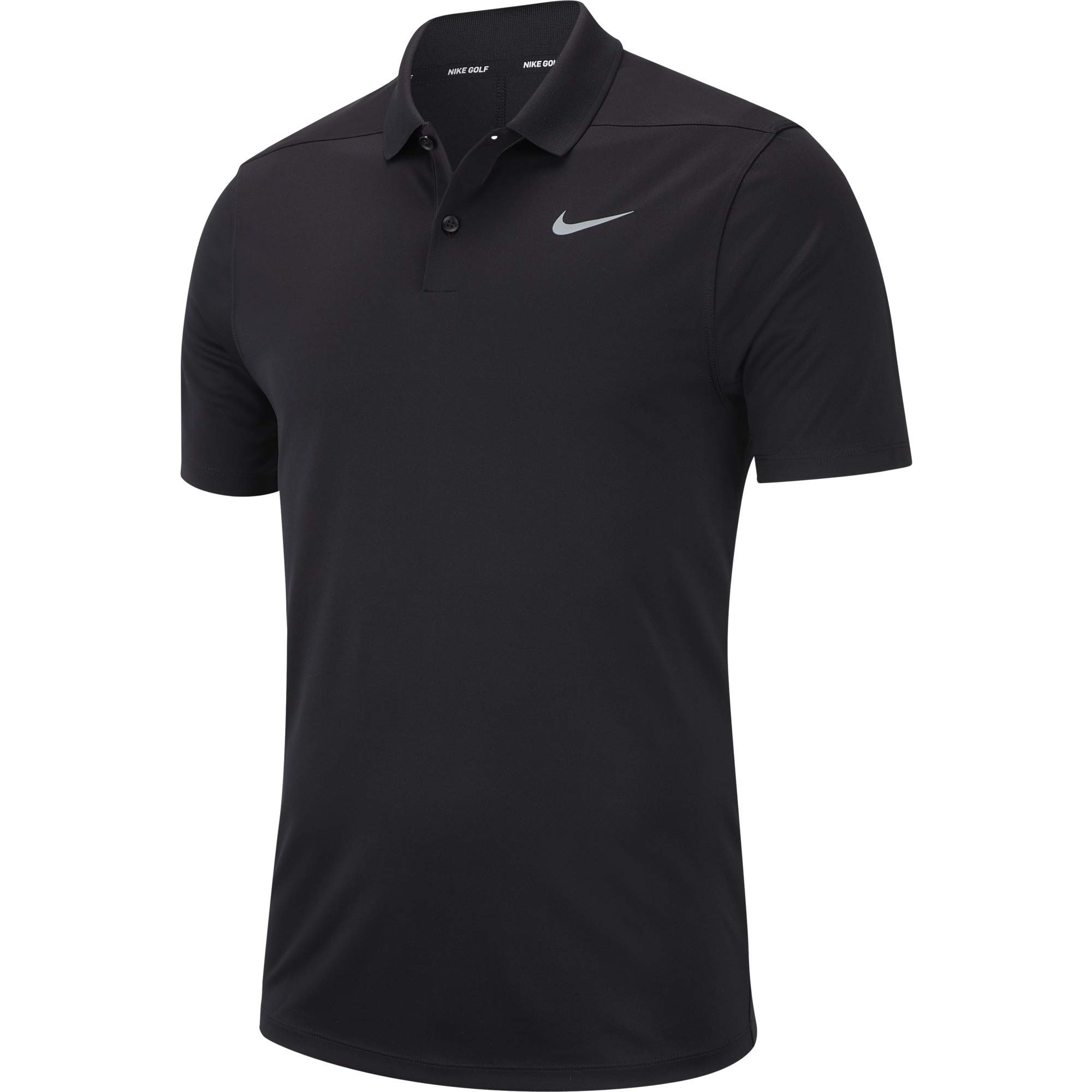 Nike Men's Dry Victory Polo Solid Left Chest, Black/Cool Grey, Small