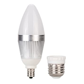 Globe Electric 7805101 25-Watt Chandelier Led Max 4-Watt Light Bulb ...