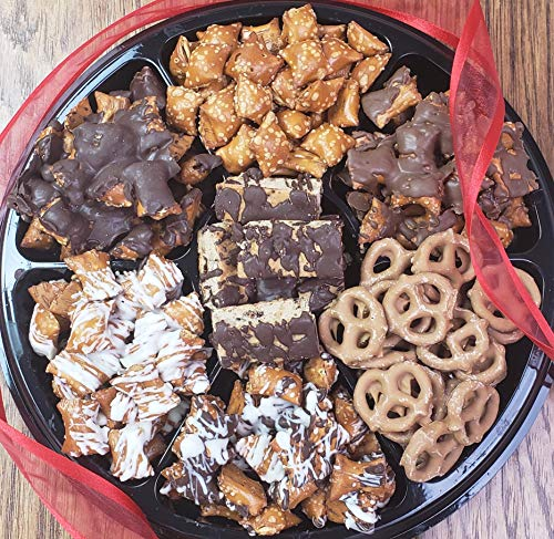 Peanut Butter Chocolate Pretzel Gift Tray - Perfect for Birthdays, Parties, Sympathy Events