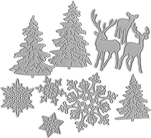 Metal Cutting Dies Embossing Album Gifts Home XMAS Decor Picture Frame Deer