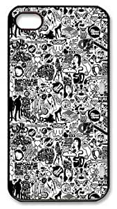 iPhone 4S Case and Cover -Comics Black And White PC case Cover for iPhone 4 and iPhone 4s ¡§CBlack