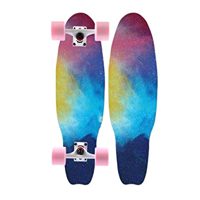 Aniseed Dinghy 27 Inch Cruiser Complete Deck Fish Board Skateboard Starry Sky Pattern : Sports & Outdoors