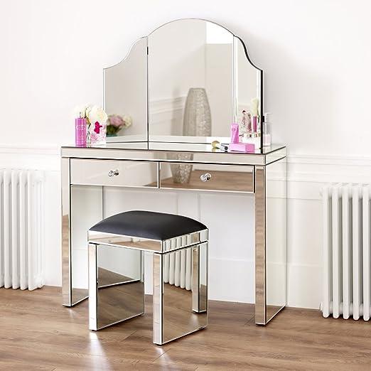 The Furniture Market Venezianischer Spiegel Schminktisch Set Mit
