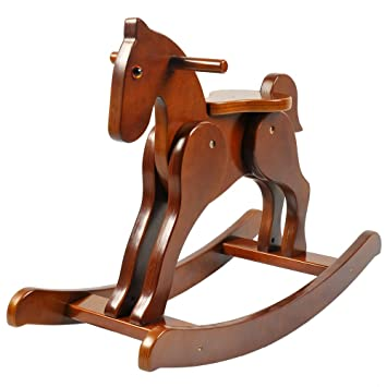 Labebe Child Rocking Horse Wooden Rocking Horse Toy Brown Rocking Horse for kid 1  sc 1 st  Amazon.com & Amazon.com: Labebe Child Rocking Horse Wooden Rocking Horse Toy ...