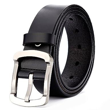 XIANGUO Ceinture homme en cuir ceinture exquis ceinture chic ceinture de  sport - Noir - Large d8853fc61d7