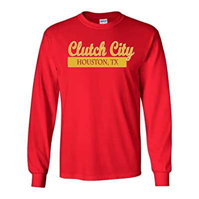 "The Silo LONG SLEEVE RED Houston ""Clutch City"" T-Shirt"