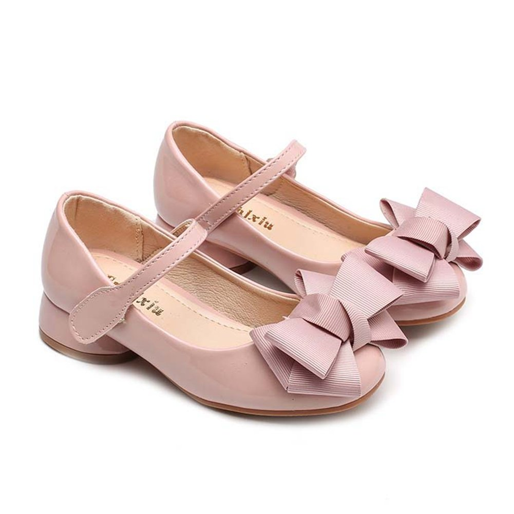 F-OXMY Girls Mary Jane Shoes Bowknot Shiny Princess Ballet Dress Shoes Toddler//Little Kid//Big Kid