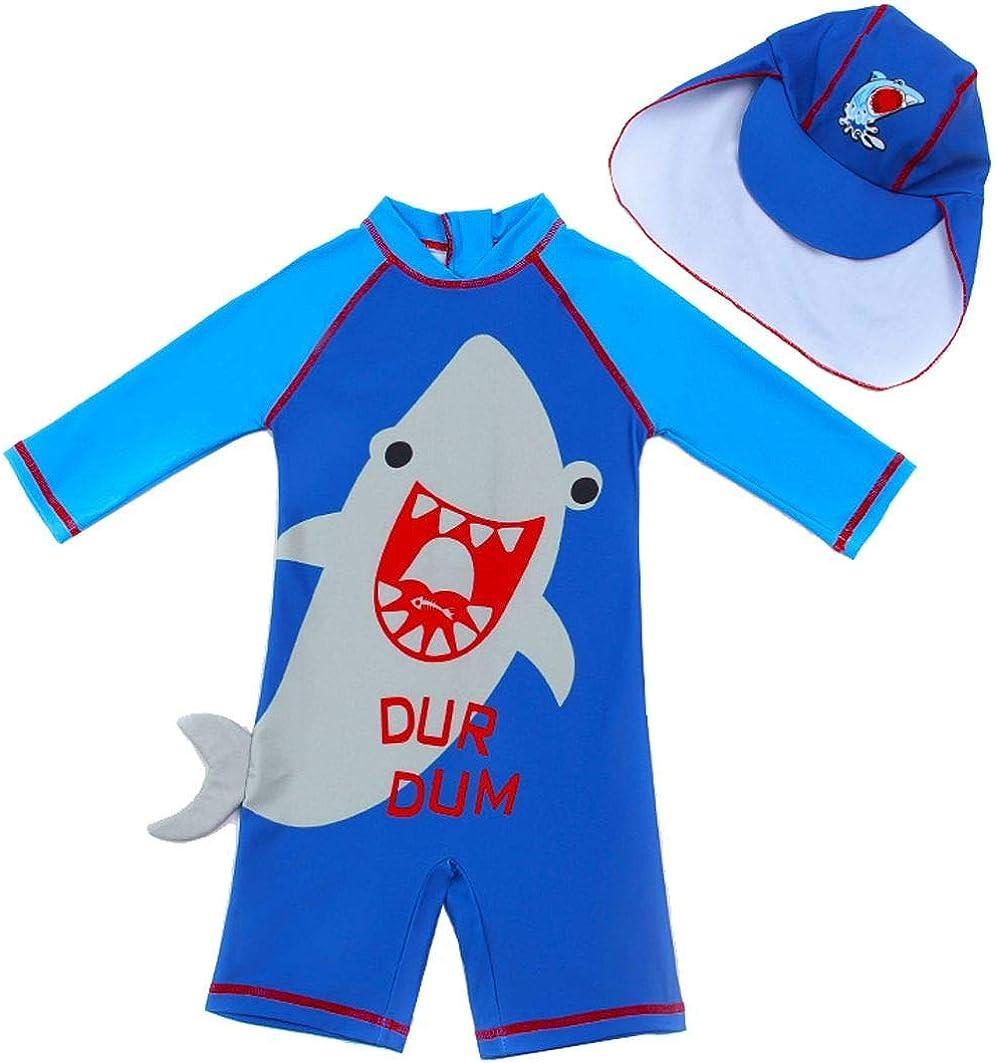 Infant Baby Boys Shark One Piece Sunsuits Beach Swimwear