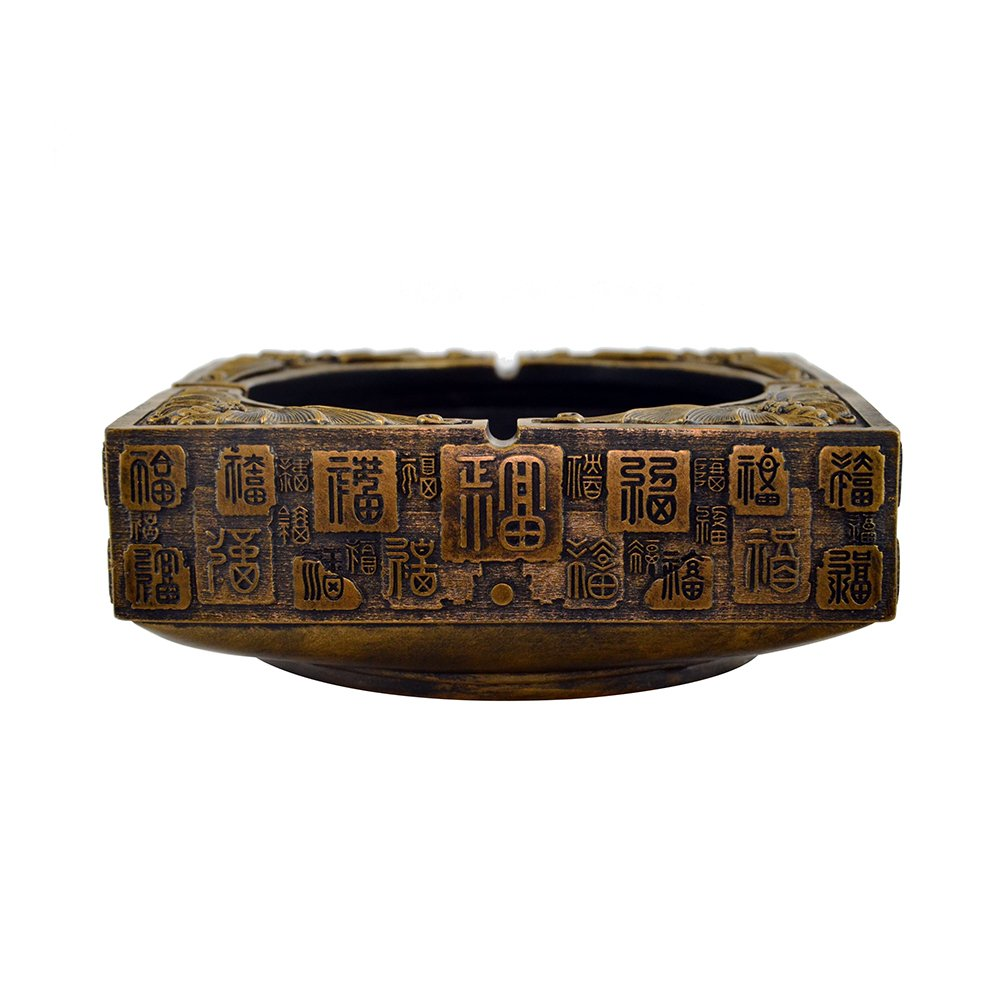 SMALEAVES Hand Made Home Decoration-100 Chinese Characters ''FU'' Decoration, can be Used as Crafts, Ashtrays, Key Tray, Mobile Phone Tray and Other Small Things Tray, Home Collection