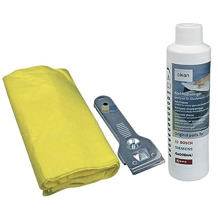 Bosch - Set para la limpieza de vitroceramicas: Amazon.es: Hogar