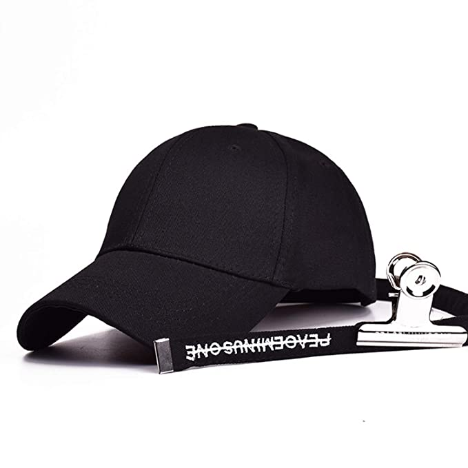 36b24a69 Image Unavailable. Image not available for. Color: Hip Hop Peaceminusone Gd Unisex  Solid Curved Hats Baseball Cap Men Women Snapback Caps