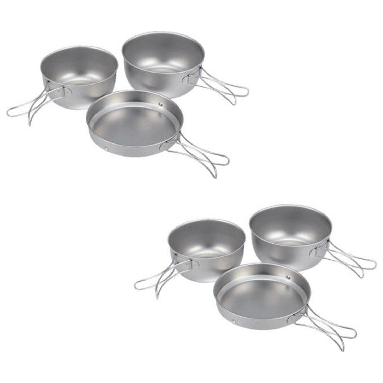 Snow Peak Titanium 3pc Cookware Set - 2 Pack