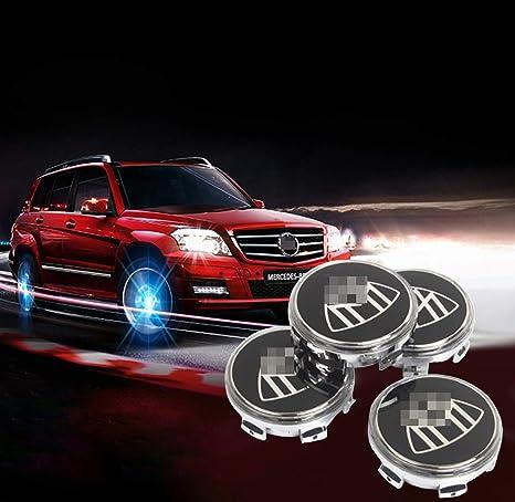 Amazon.com: Sooloon - Tapas centrales de rueda para Mercedes ...