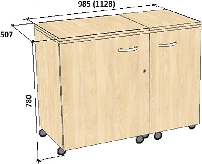 Comfort 5+ | Mueble para máquina de coser | (Lakeland Acacia Light ...