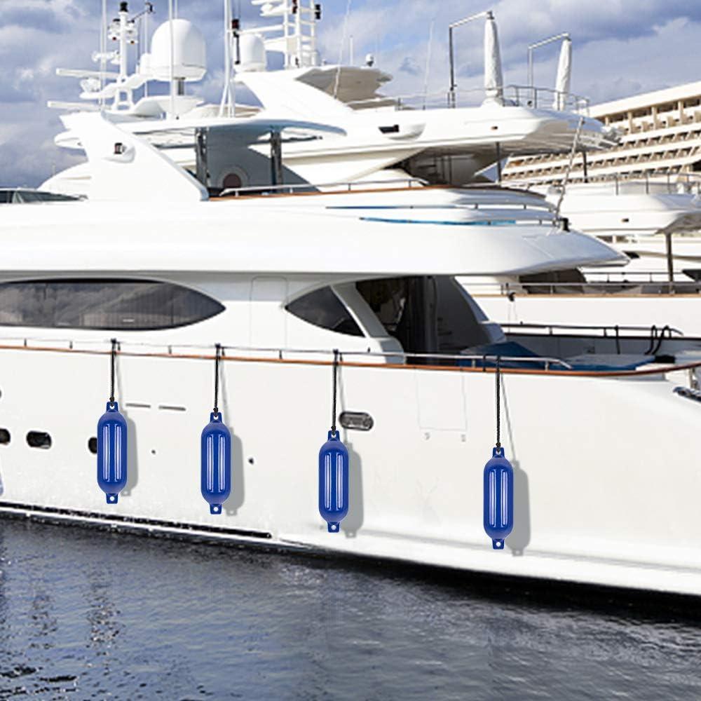 Lykos 4 Ribbed Marine 8.5 X 27 Boat Fender Protection Buoys Bumper Shield Yacht Dock