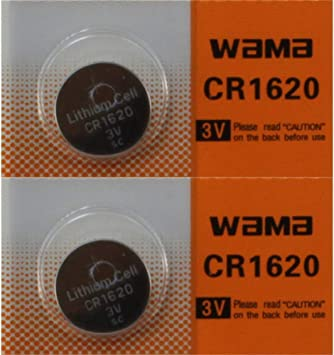 CR1620 1620 Battery Key Fob Remote 2-Pack