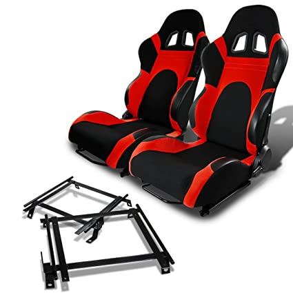 Pair of RSXL01BL Racing Seats+Mounting Bracket for Jeep Wrangler TJ