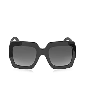 09c6ab58c22 Gucci Women s GG0102S001 Black Acetate Sunglasses  Amazon.co.uk  Clothing