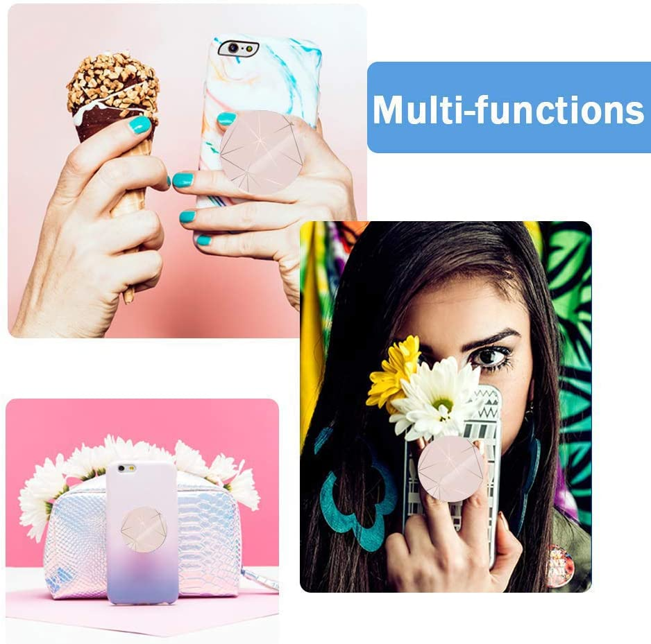 Multi-Function Stand and Stand kit car Stand iPhone Stand Foldable Pink Marble Scalable Smartphone and Tablet Stand and Handle