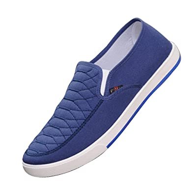 Hibote Homme Femme Casual Chaussures Respirant Sneaker Mocassin Unisexe  Chaussures de Travail Chaussures Plates Chaussures Classique 37229e12167