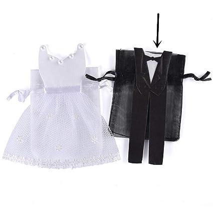 60 Bolsas vestido de novia traje hombre boda organza Puerta ...
